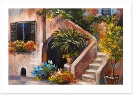 Summer on the terrace Art Print 85122610
