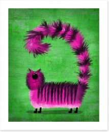 Pink fluffy cat