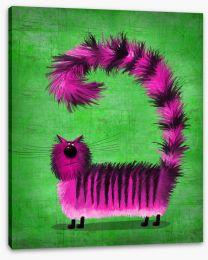 Pink fluffy cat