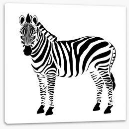 Minimalist zebra Stretched Canvas 86032417
