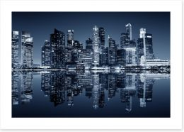 Singapore downtown reflections