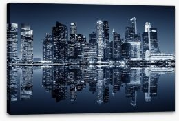 Singapore downtown reflections Stretched Canvas 86084322