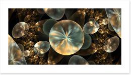 Golden orbs Art Print 86232552