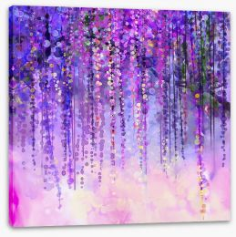 Wisteria drops Stretched Canvas 87636995