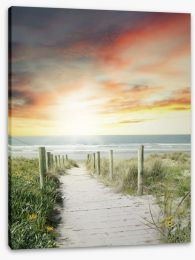 Beaches Stretched Canvas 88430666