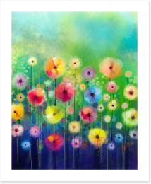 Bright sunny flowers Art Print 89017556