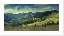 Summer mountain panorama