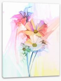 Soft pastel bouquet Stretched Canvas 90537120
