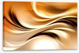 Golden waves Stretched Canvas 90602431