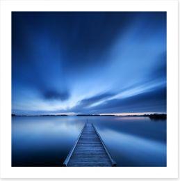 Blue dawn jetty Art Print 90903081