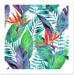 Paradise leaves Art Print 91711556