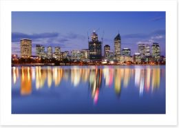Perth skyline reflections