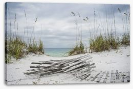 Over the stormy dunes Stretched Canvas 95046673