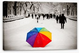 Rainbow umbrella Stretched Canvas 95899393