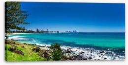 Gold Coast beach panorama Stretched Canvas 96077690
