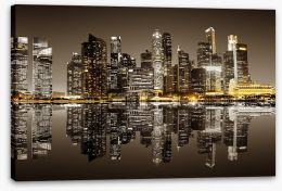 City Stretched Canvas 96167524