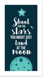 Shoot for the stars Art Print AA00028