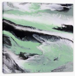Mint tide Stretched Canvas ET0035