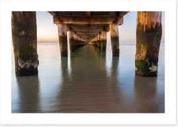 Rye jetty Art Print LH0018