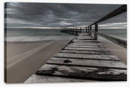 Moody Shelley Beach Stretched Canvas LH0024