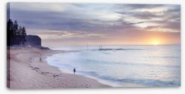 Mona Vale beach landscape at dawn Stretched Canvas MC002