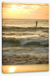 Avalon beach paddle boarder at sunrise