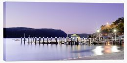 Palm Beach wharf at dusk Stretched Canvas MC007