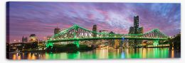 Vibrant Brisbane Stretched Canvas NB0022