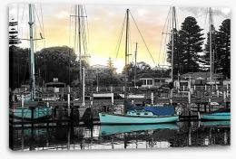 Port Fairy harbour Stretched Canvas PA0005