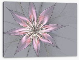 Silk flower in grey