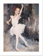 Little ballerina Art Print 100958498
