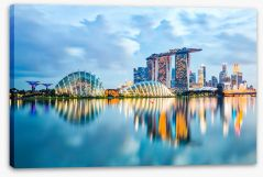 Singapore skyline reflections Stretched Canvas 103305335