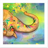 The elephant of Holi
