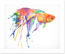 Rainbow goldfish Art Print 106450910