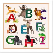 Alphabet and Numbers Art Print 116675953