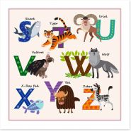 Alphabet and Numbers Art Print 116675981