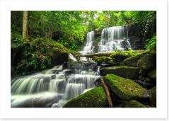 Phu Tub Berk jungle waterfall Art Print 116886835