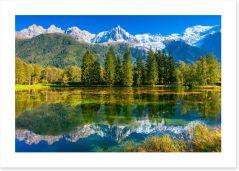 Chamonix reflections, France
