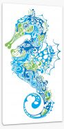 Intricate seahorse Stretched Canvas 23393868