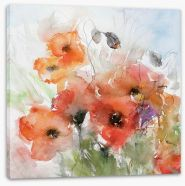 Watercolour poppies Stretched Canvas 39929125