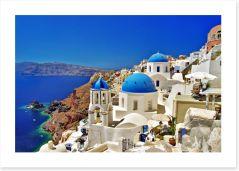 Amazing Santorini coast Art Print 45396785