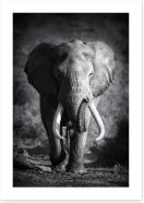 Elephant bull Art Print 46494334