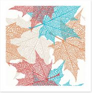 Maple leaf abstract