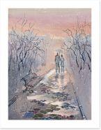 A snowy stroll