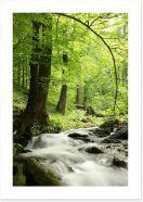 Spring cascades Art Print 53301937
