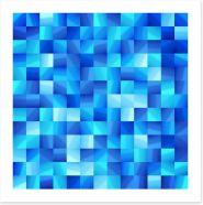 Ocean blue mosaic