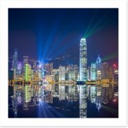 Hong Kong skyline reflections