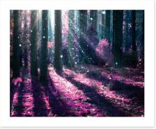 Deep in the magical forest Art Print 57897515
