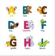 Alphabet animals - A to I