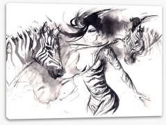 The zebra dance Stretched Canvas 60848904